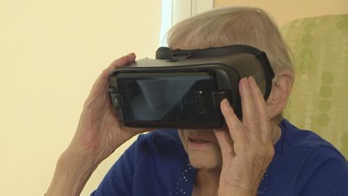 malata terminale sperimenta la realtà virtuale