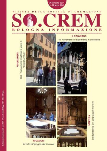Copertina rivista SOCREM Bologna
