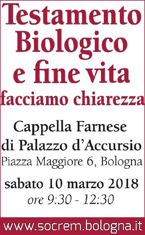 Convegno su testamento biologico a Bologna