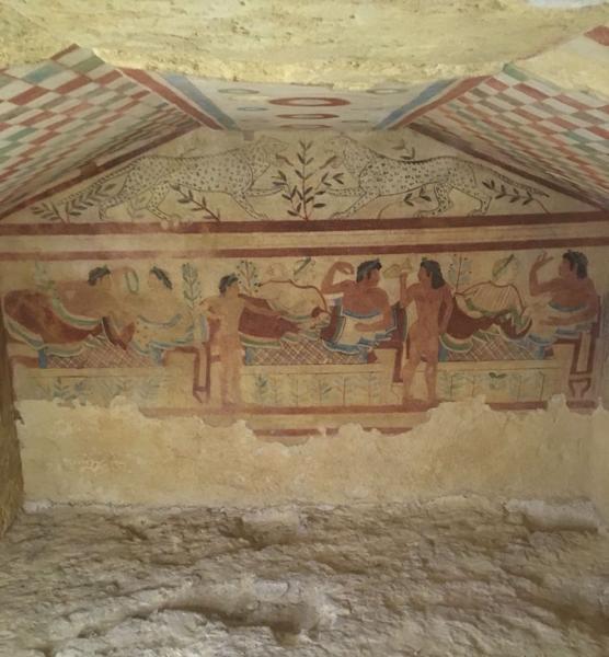 Tomba dei leopardi a Tarquinia