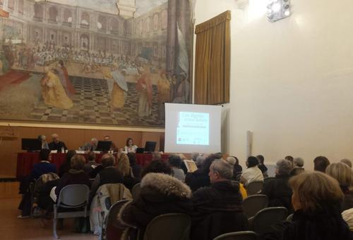 Aula convegno cure palliative a Bologna