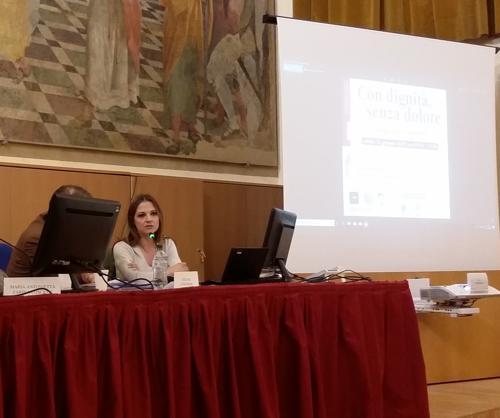 Maria Antonietta Farina Coscioni al convegno sulle cure palliative