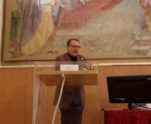Stefano Canestrari durante il convegno
