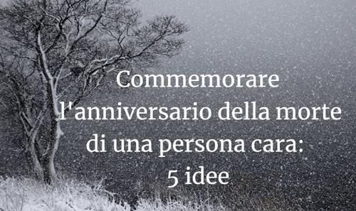 commemorare l'anniversario di morte