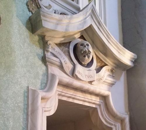 Teschio nella Chiesa del Purgatorio a Matera