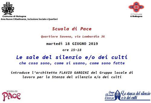 Evento a Bologna sulle Stanze del Silenzio